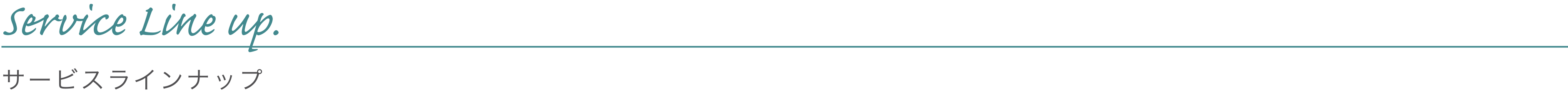 Service Outline / サービスラインナップ